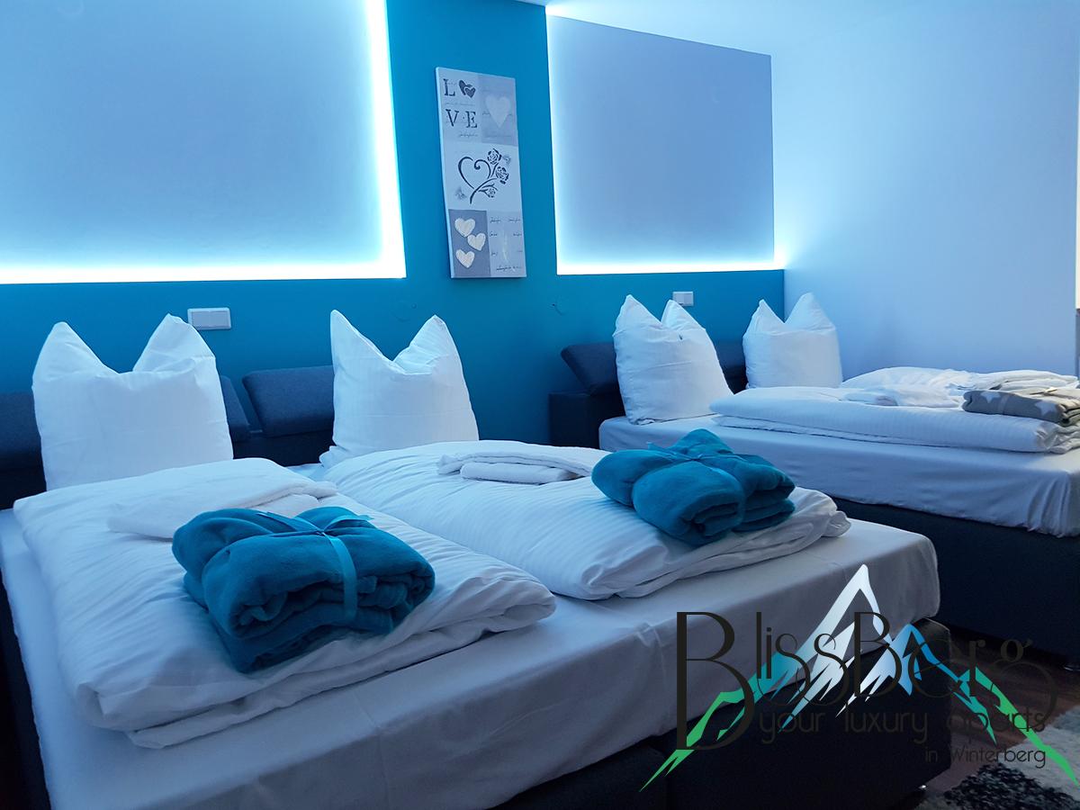 Schlafzimmer Ferienwohnung Perlen