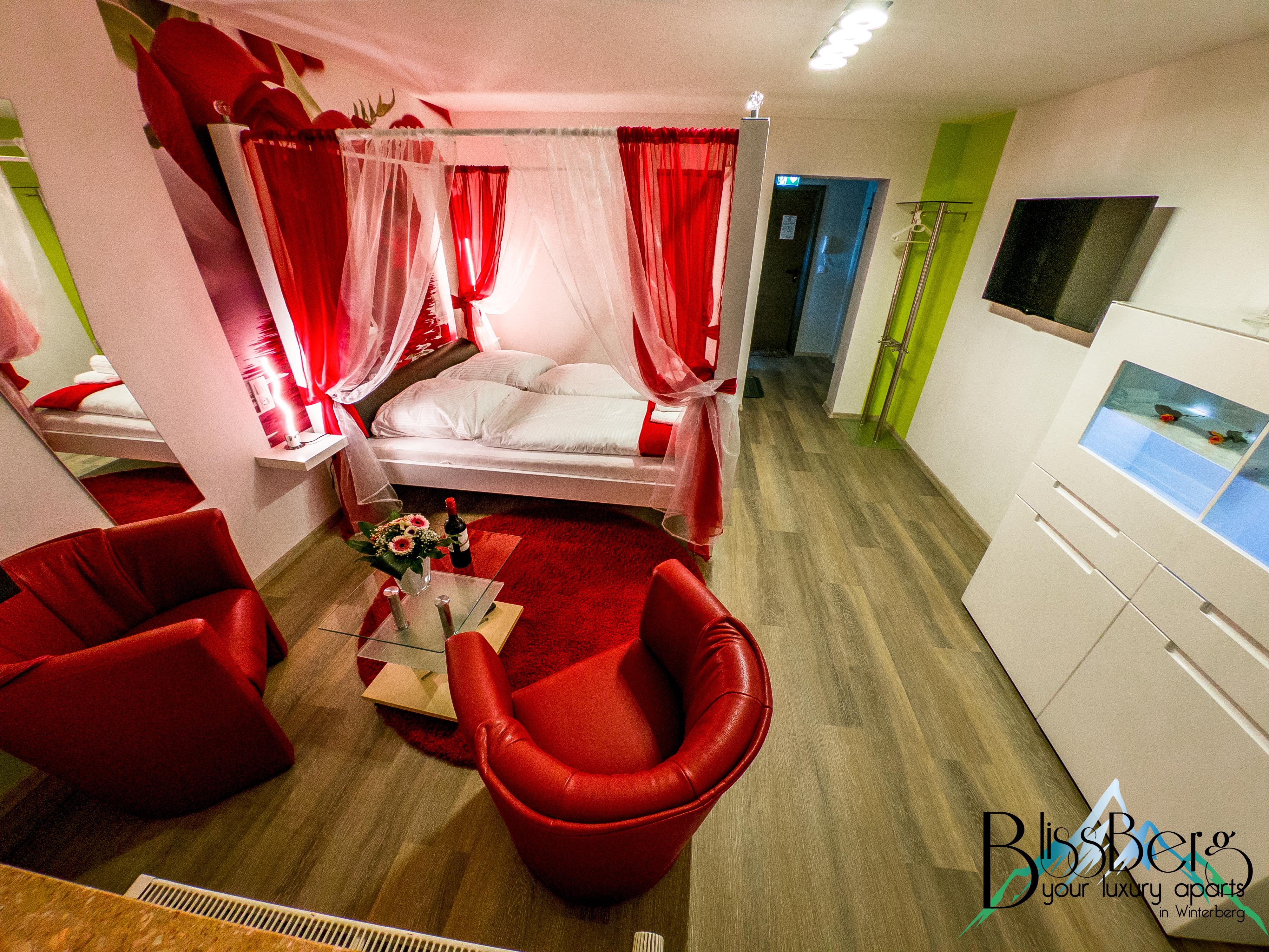 Schlafzimmer Smaragdapartment